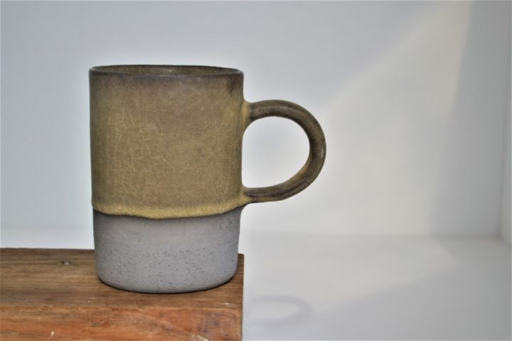 Cylinder Cup Olive Green/Anthracite ceramic