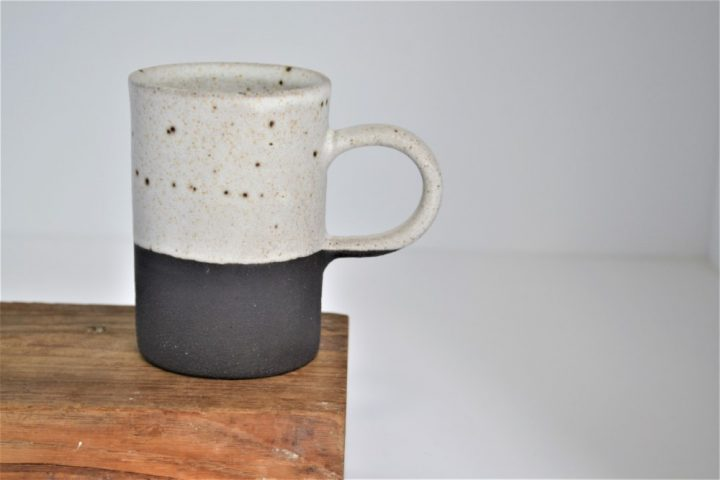 Cylinder Cup White/Anthracite ceramic