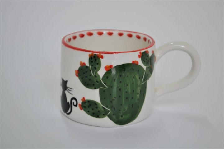 Short Conical Cup Cactus ceramic