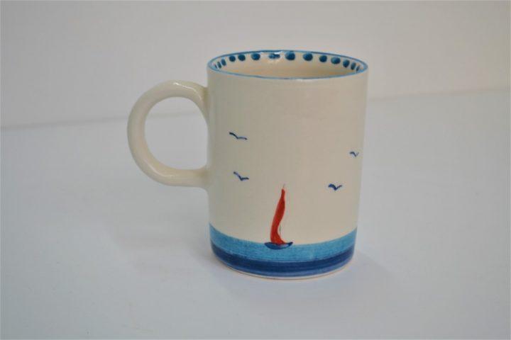 Cylinder Mug Swimmer Girl ceramic