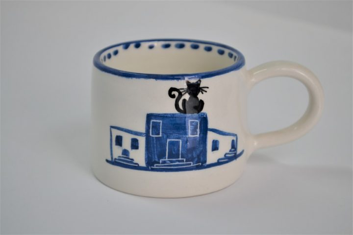 Short Conical Cup Island Houses ceramic