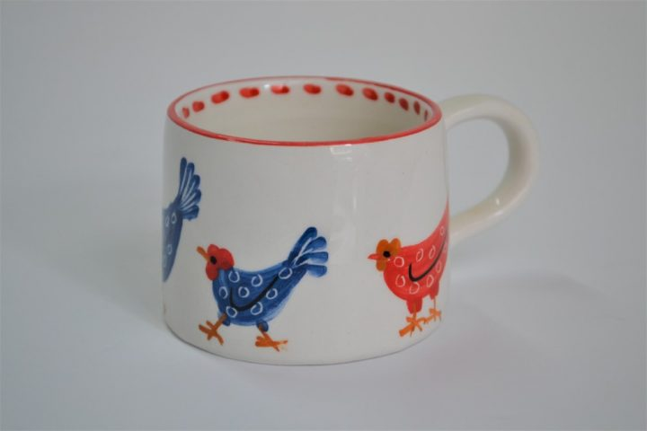 Short Conical Cup Hens ceramic
