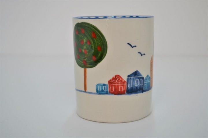 Cylinder Mug Village ceramic