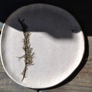 Rosemary Plate ceramic