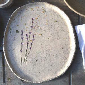 Lavender Gritty Plate ceramic