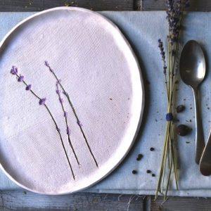 Lavender Sand Plate ceramic