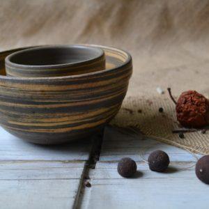 Mixed Clay Breakfast & Sauce Bowl ceramic