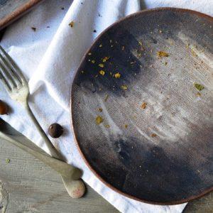 Smudges Plate ceramic