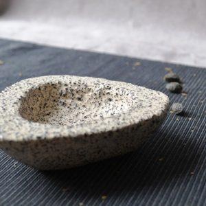 Gritty Triangular Bowl ceramic
