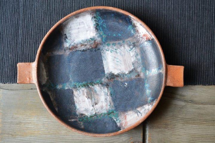 Checkeb Pattern Plate ceramic