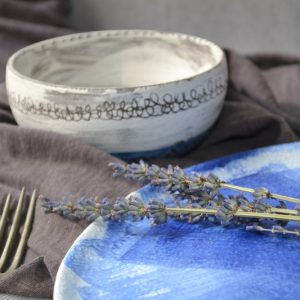 White Wash Bowl ceramic