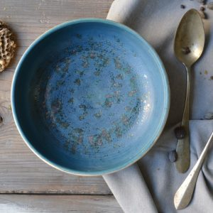 Blue Shades Shallow Bowl ceramic