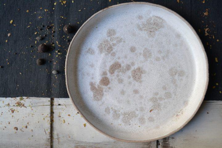 Sponge Shallow Dinner Plate ceramic