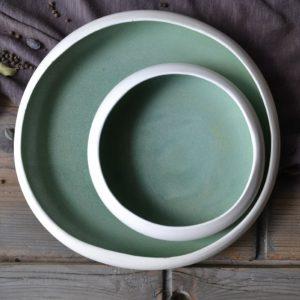 Pebble Shaped Plate 'L' & 'M' ceramic