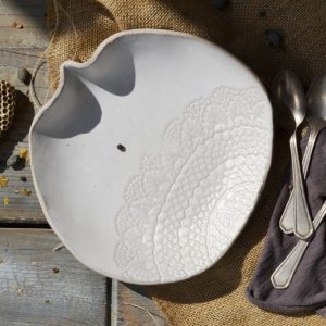 Lace Dessert Plate ceramic