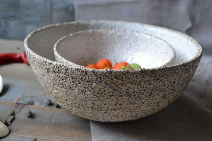 Gritty Salad Bowl Small & Large ceramic