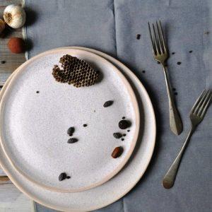 Dinner Plate & Medium Dinner Plate White Sand