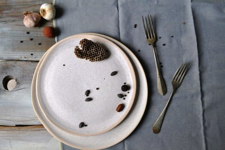 Dinner Plate & Medium Dinner Plate White Sand ceramic