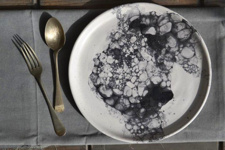Bubble Plate ceramic