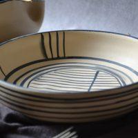 Lines Plate ceramic