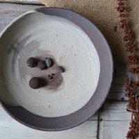 Soup Plate Dark Chocolate/Cream ceramic