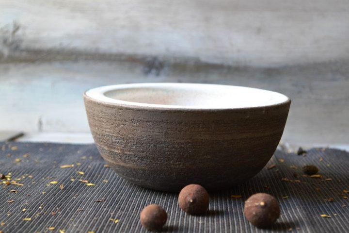 Serving Bowl Charcoal / White Stigmas ceramic