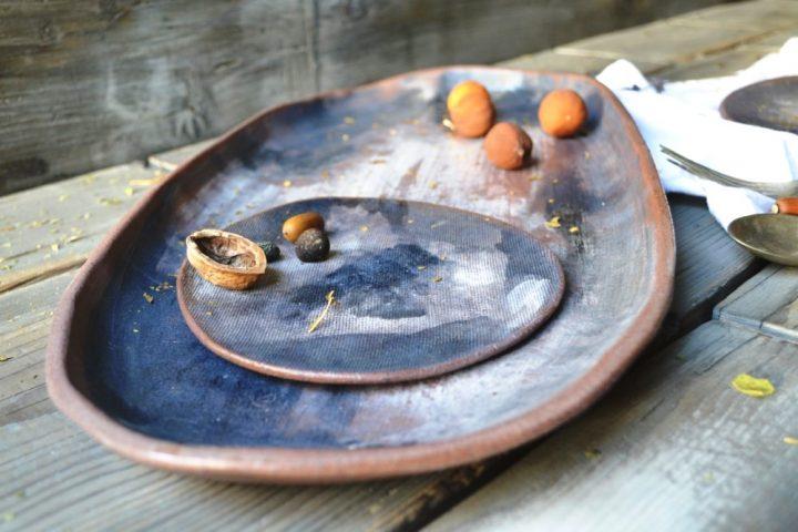 Smudges Platter ceramic