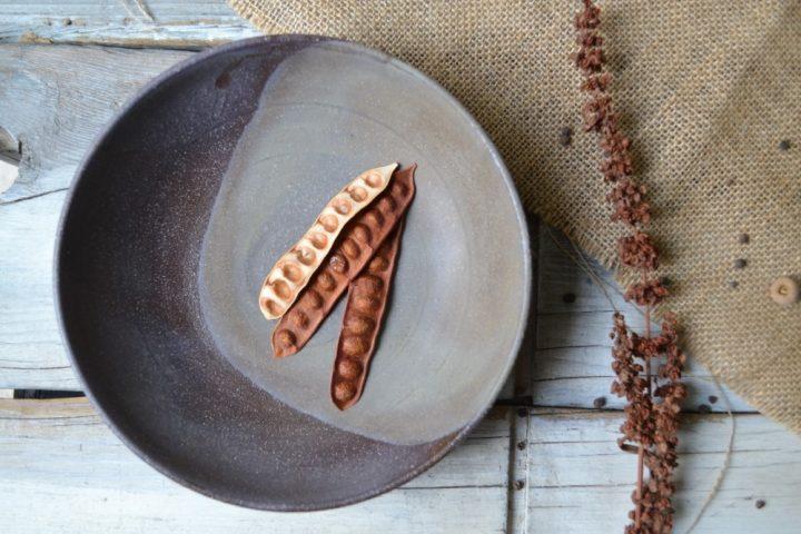 Soup Plate Dark Chocolate/Mocha ceramic
