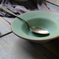 Pasta Plate 'M' Rusty Green ceramic