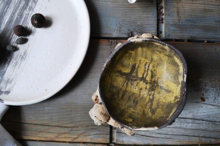 Shallow Bowl Golden Orange ceramic