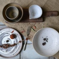 Mixed Clay Breakfast & Sauce Bowl