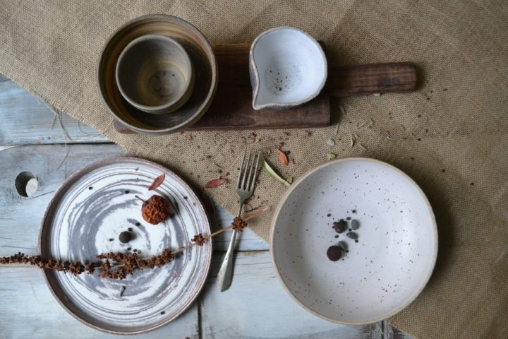 Mixed Clay Breakfast & Sauce Bowl ceramic