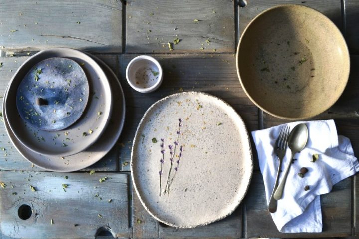 Lavender Gritty Plate