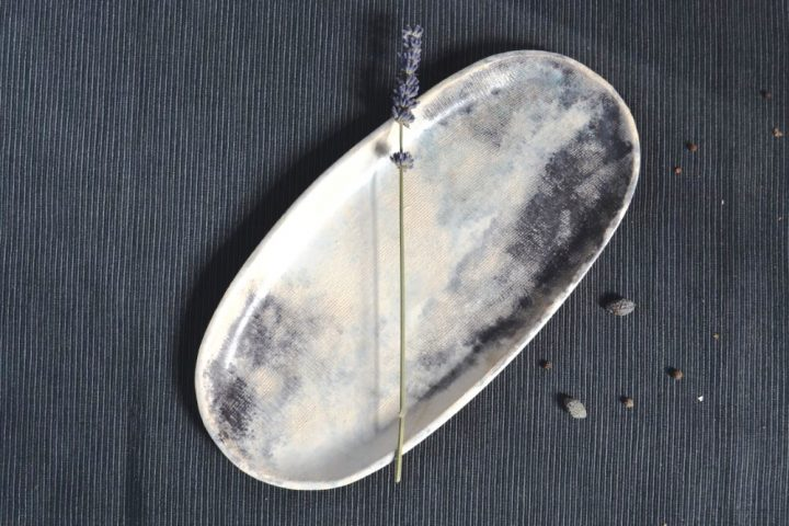 Oval Cloudy Platter ceramic