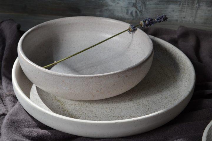 Shallow Bowl Rice White ceramic