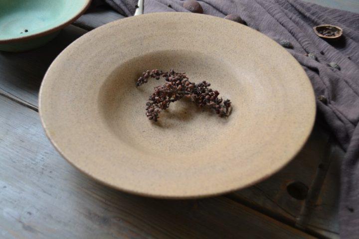 Pasta Plate 'L' Honey ceramic