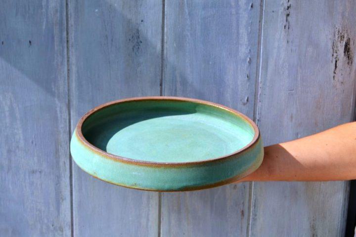 Dinner Plate Rusty Green
