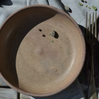 Shallow Bowl Almond Brown ceramic