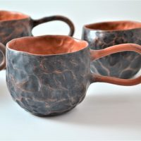 Pinched Cup Black ceramic