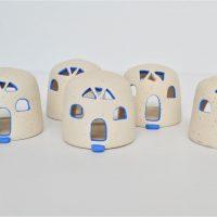 Church Candle Holder ceramic