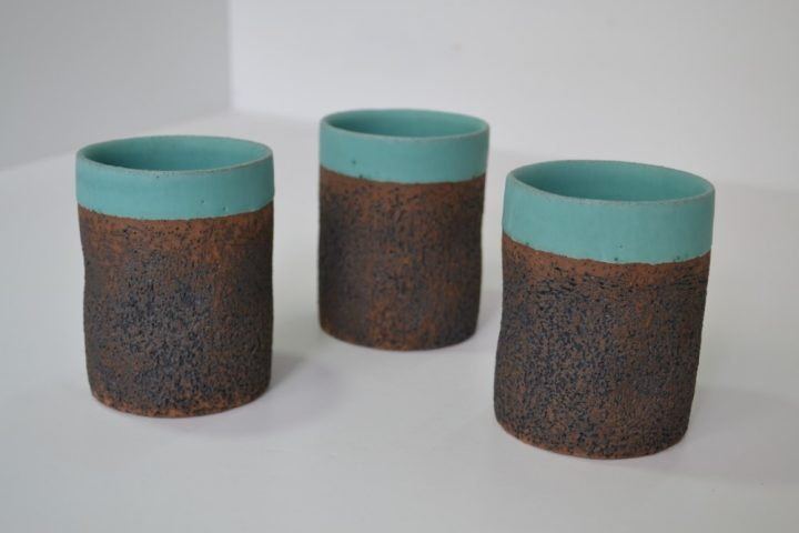 Sponge Tumbler Turquoise Blue ceramic