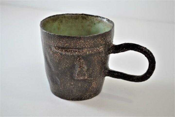 Face Mug Sumatra Green ceramic