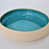 Pebble Bowl Turquoise Blue ceramic