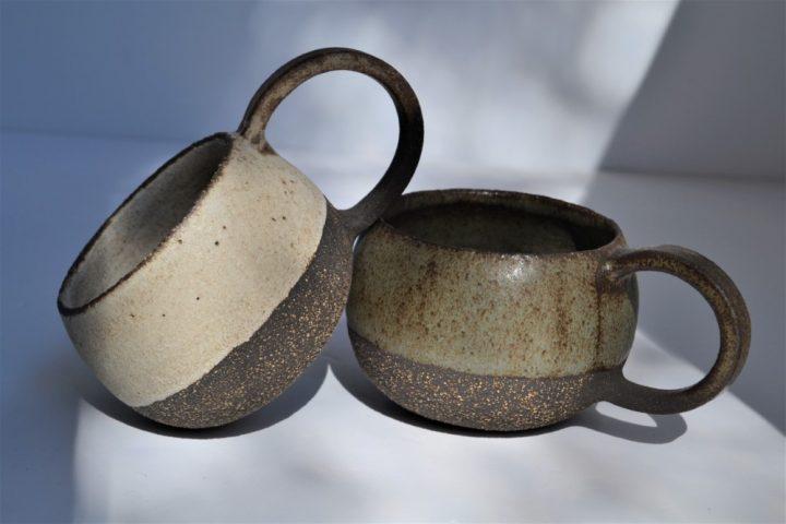 Round Cup Blue Grey & Ice ceramic