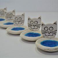 Cat Face Candle Holder ceramic