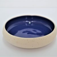 Pebble Bowl Blue ceramic