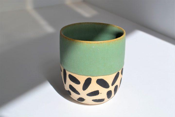 Memphis Love Cup Sumatra Green ceramic