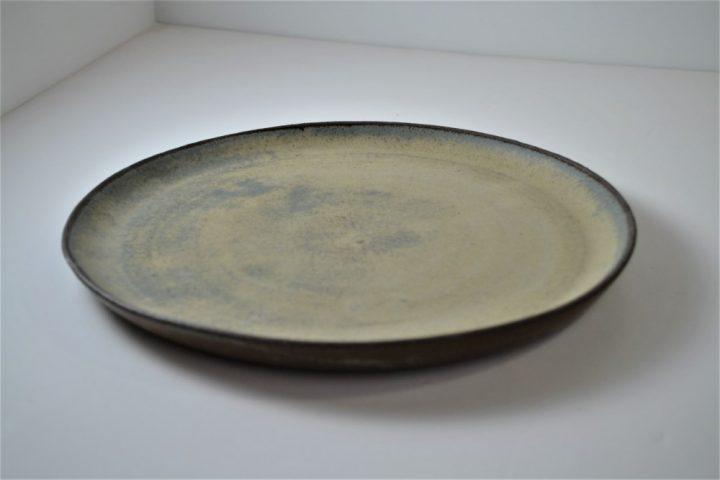 Blue Grey Plate ceramic