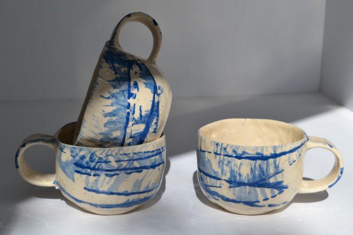 Lines Cup ceramic