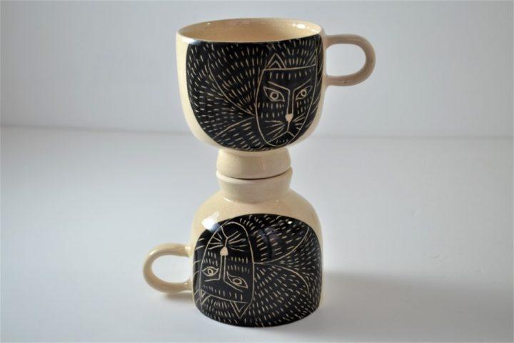 Cat Cup ceramic